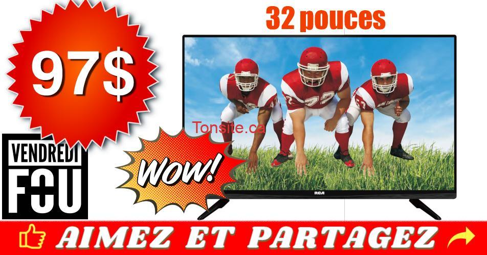 rca32 97 - Téléviseur RCA à écran DEL 32 pouces à 97$ seulement!