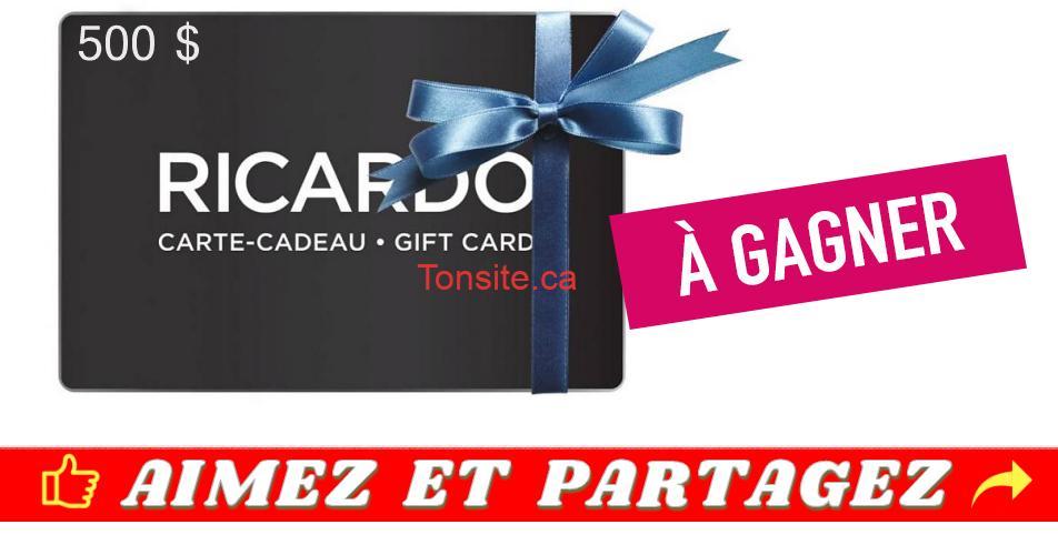 ricardo concours3 - Participez et gagnez une carte-cadeau Ricardo Cuisine de 500$