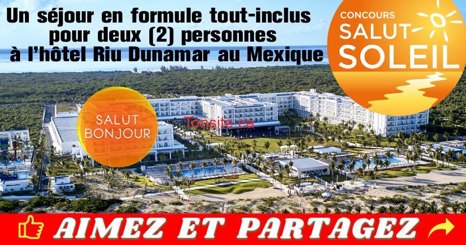 riu concours - Gagnez un séjour tout compris pour 2 personnes à l'hôtel Riu Dunamar au Mexique