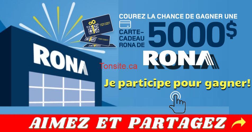 rona concours noel18 - Concours Rona: Gagnez une carte-cadeau de 5000$
