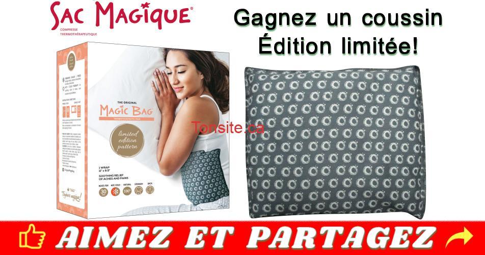 sac magique concours - Gagnez un coussin Sac Magique (édition limitée)