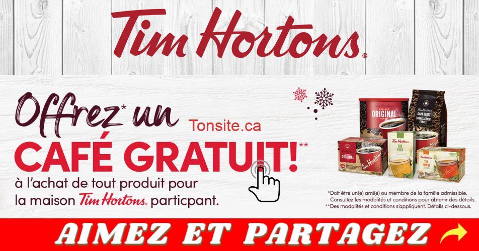 tim 250 - Obtenez une Carte Tim électronique de 2,50 $ à l'achat de tout produit pour la maison Tim Hortons participant