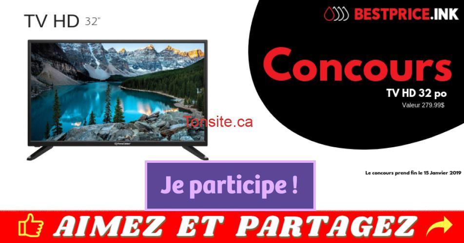 tv concours32 - Participez et gagner un téléviseur HD 32 pouces