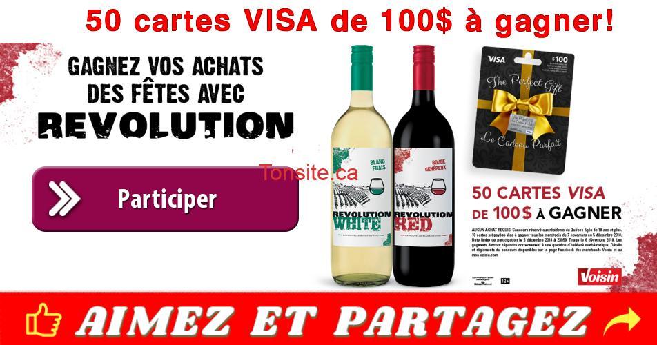 voisin concours - Gagnez 1 des 50 cartes Visa de 100$
