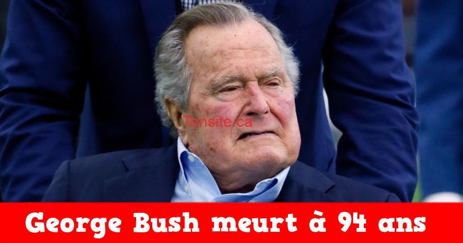 BUSH1 - L'ancien président américain George Bush meurt à 94 ans