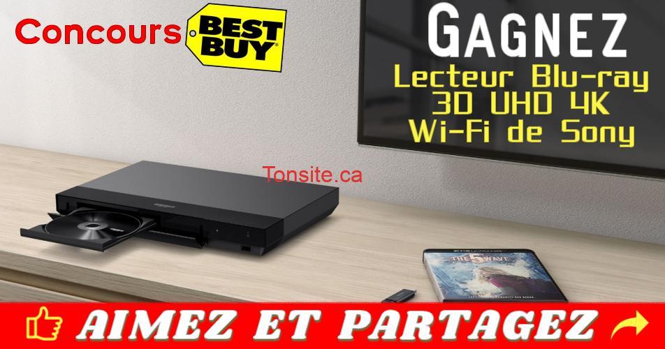 best buy concours 300 - Concours Best Buy: Gagnez un lecteur Blu-ray Ultra HD 4K de Sony