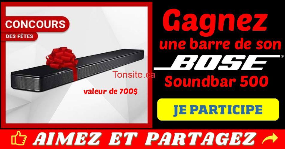 bose concours - Gagnez une barre de son Bose Soundbar 500 (valeur de 700$)