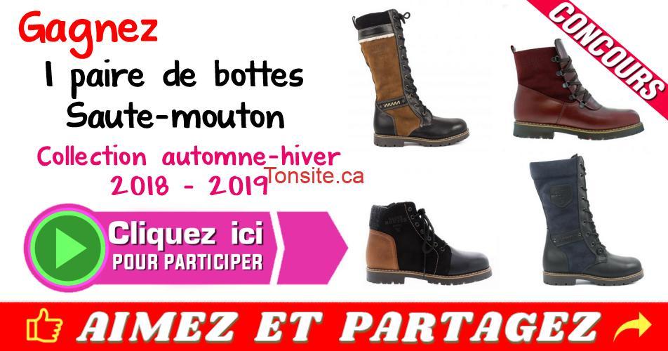 bottes concours2 - Gagnez une paire de bottes Saute-Mouton (collection Automne-Hiver 2018)