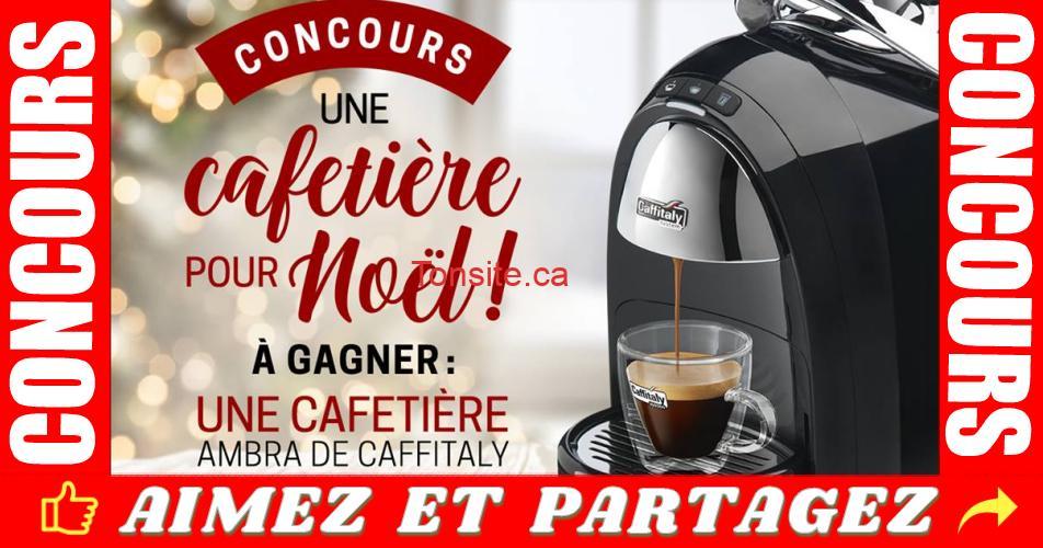 cafetiere caffitaly concours - Participez et gagnez une cafetière Ambra de Caffitaly Canada et un coffret dégustation