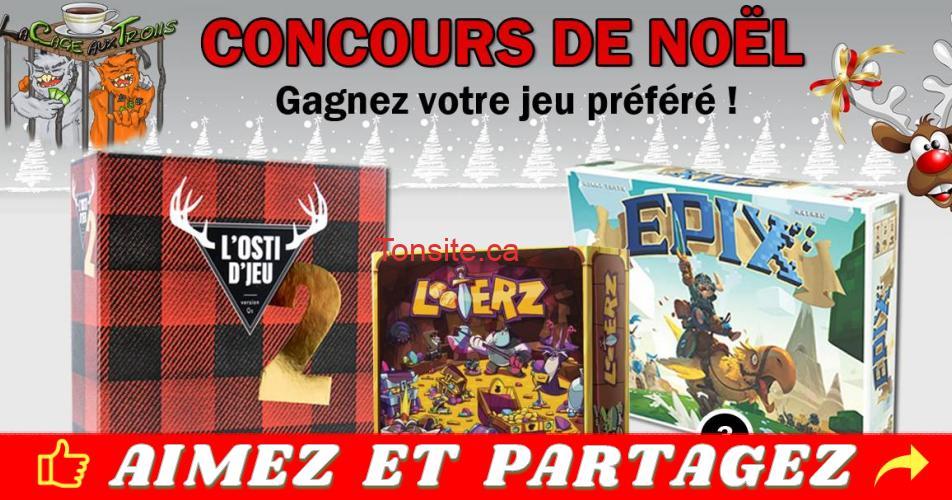 cage aux trolls concours - Participez et gagner 1 des 3 jeux: L'Osti d'jeu 2, Looterz ou Epix