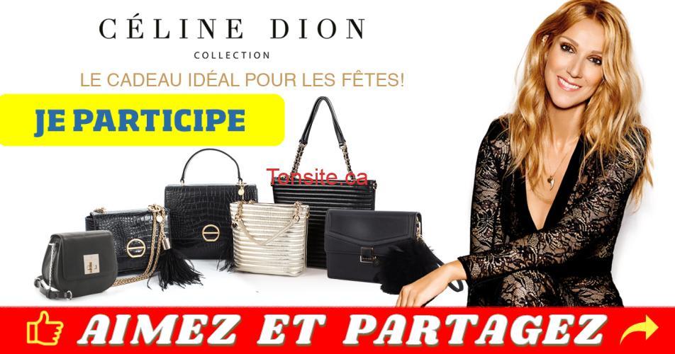 celine dion concours2 - Un sac à main signé Céline Dion Collection à gagner chaque jour