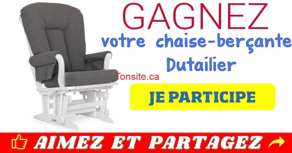 chaise dutailier - Participez et gagnez votre chaise berçante Dutailier
