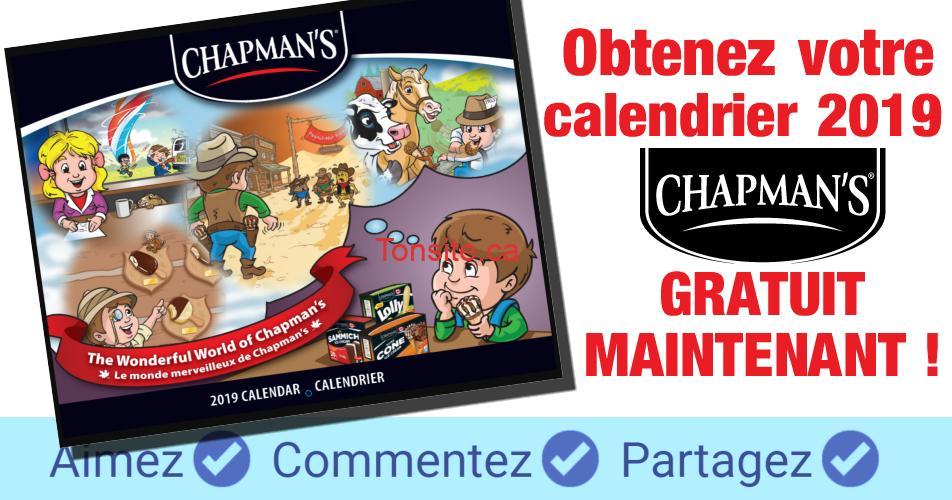 chapmans calendrier 2019 - Calendrier Chapman's 2019 gratuit
