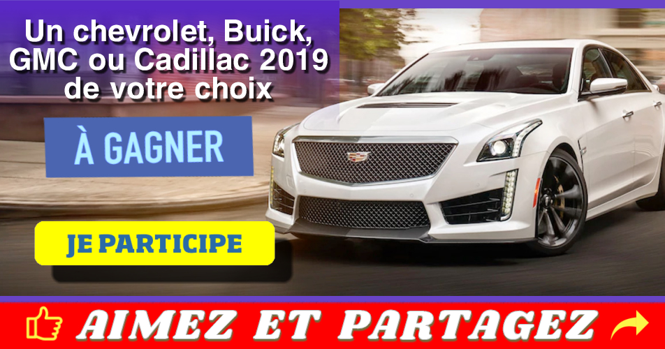 chevrolet concours 2019 - Gagnez un Chevrolet, Buick, GMC ou Cadillac 2019 de votre choix!