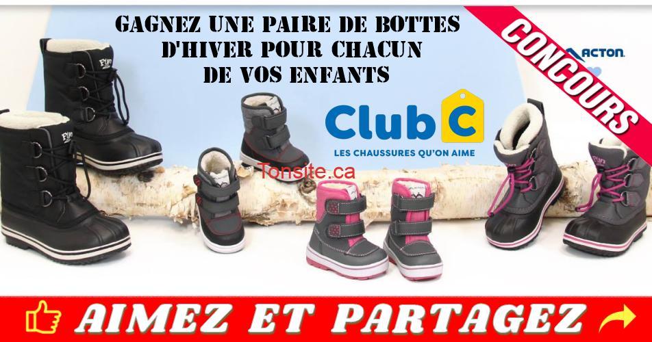 clubc concours2 - Concours Club C: Participez et gagnez une paire de bottes d'hiver pour chacun de vos enfants