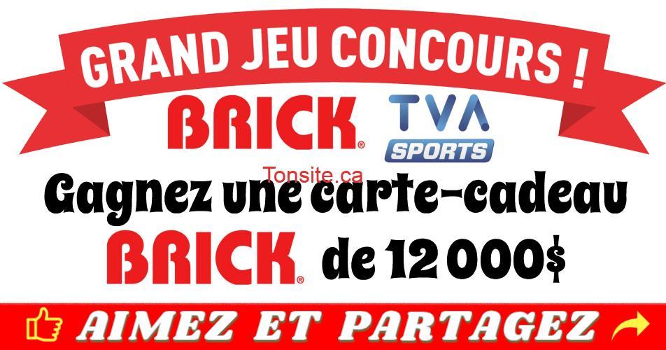 concours brick tvasports - Concours Brick & TVA: Gagnez une carte-cadeau Brick de 12 000$