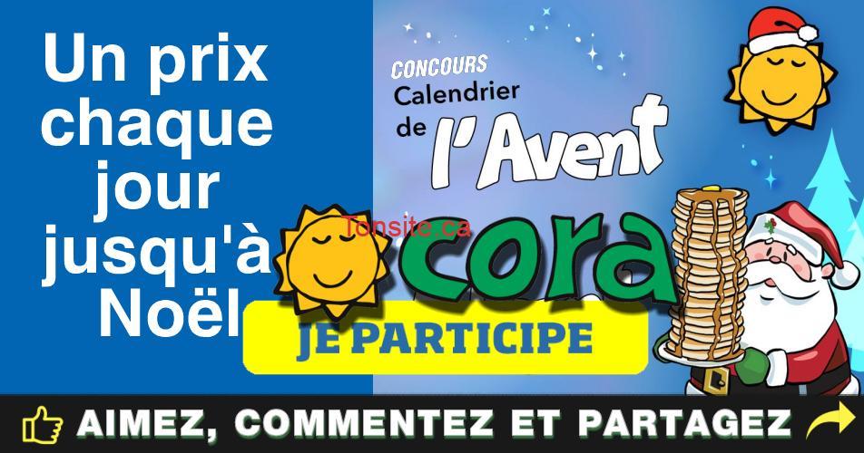 cora calendrier - Concours Cora Restaurants: Participez et gagnez des prix chaque jour!