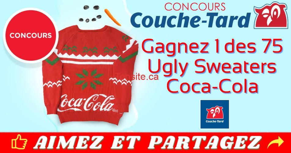 couche tard concours noel - Concours Couche-Tard: Gagnez 1 des 75 tricots festifs Coca-Cola