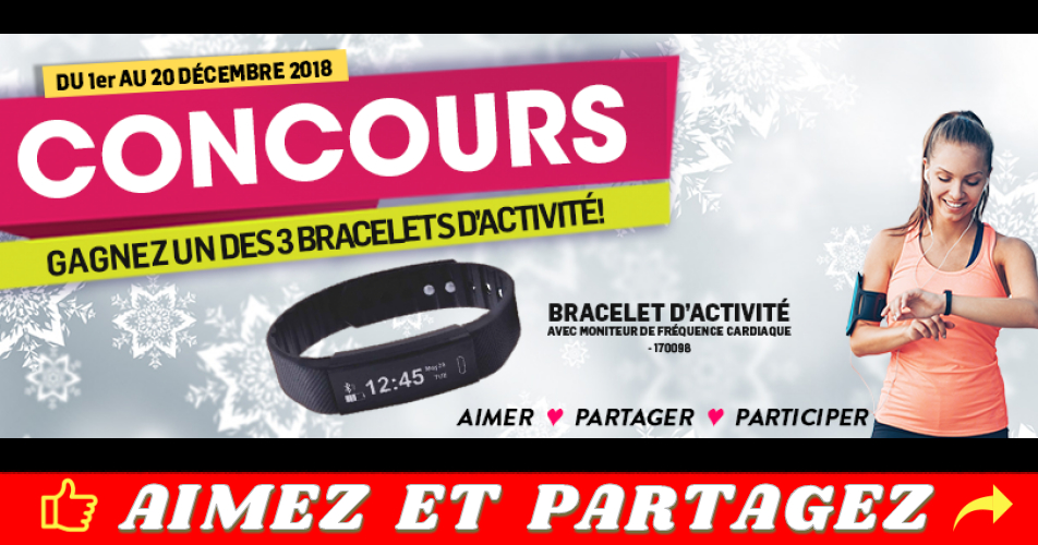 domon concours3 - Participez et gagnez un des 3 bracelets d'activité!