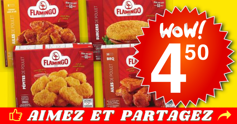 flamingo 450 - Portions de poulet panées Flamingo à 4,50$ au lieu de 10,99$