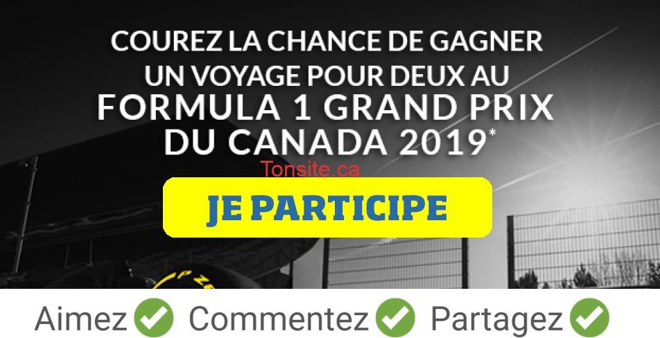 formula1 concours - Gagnez un voyage pour 2 au Formula 1 Grand Prix du Canada 2019 (valeur de 10 000$)