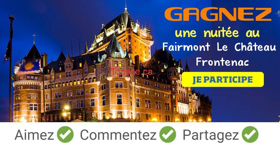 frontenac concours1 - Participez et gagnez une nuitée au Fairmont Le Château Frontenac à Québec !