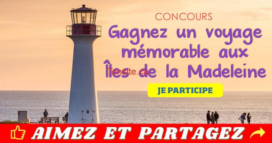iles de la madeleine concours2 - Participez et gagnez un voyage mémorable aux Îles de la Madeleine