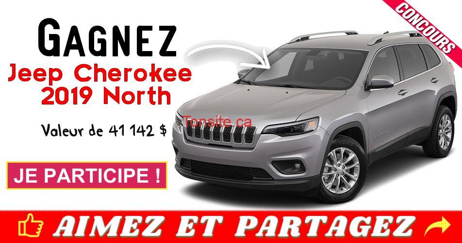 jeep concours2 - Gagnez un véhicule Jeep Cherokee 2019 North (valeur de 41 142 $)