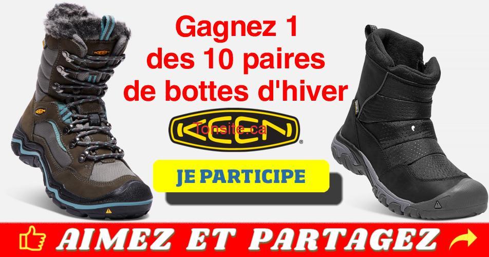 keen concours - Gagnez 1 des 10 paires de chaussures, bottes ou sandales Keen (10 gagnants)