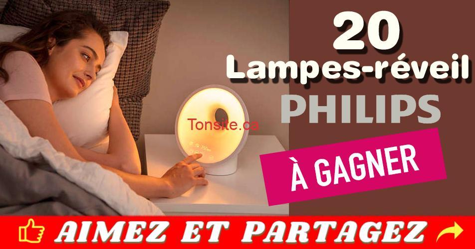 lampes reveil concours - Participez et gagnez 1 des 20 lampes-réveil Philips (valeur de 220$)