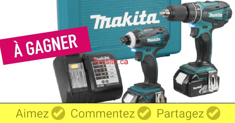 makita concours - Gagnez un ensemble de 2 perceuses impacts Makita (valeur de 459$)