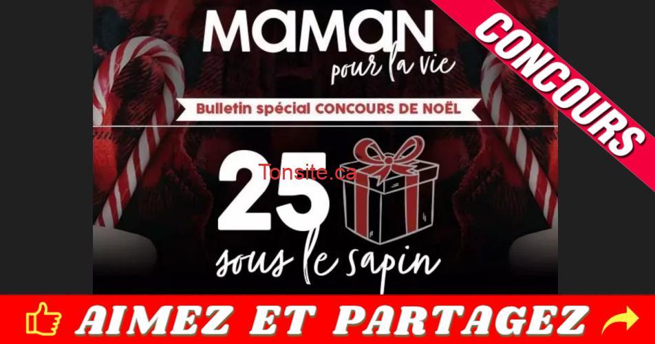 maman pour lavie concours 25 cadeaux sous le sapin - Concours Maman Pour La Vie: 25 cadeaux sous le sapin