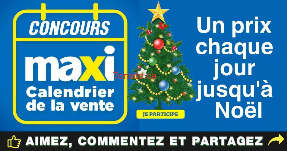 maxi concours3 - Concours Maxi: Un prix à gagner chaque jour jusqu'à Noël