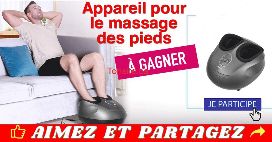 naipo concours - Participez et gagnez un appareil pour le massage des pieds