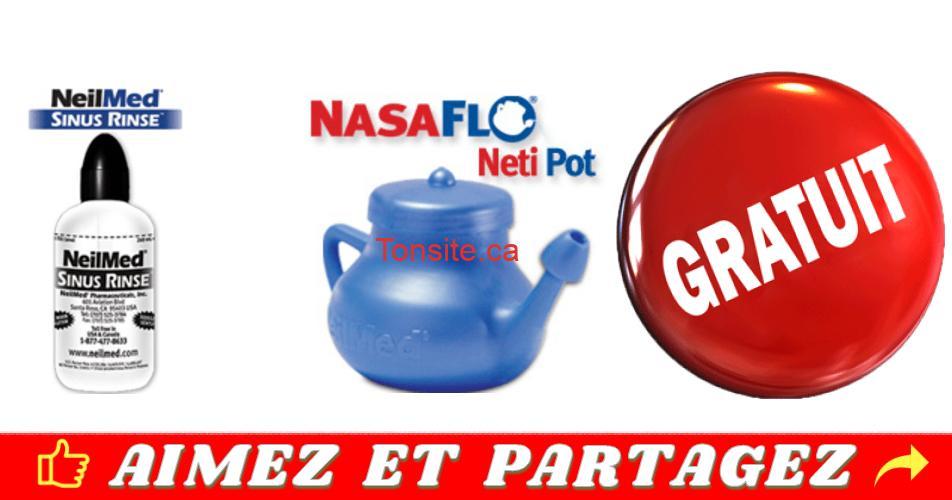 neilmed gratuit 2019 - Demandez votre flacon de Sinus Rinse NeilMed ou Nasalflo GRATUIT!