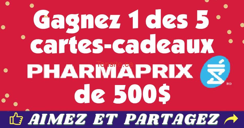 pharmaprix concours fetes - Concours Pharmaprix: Gagnez 1 des 5 cartes-cadeaux Pharmaprix de 500$