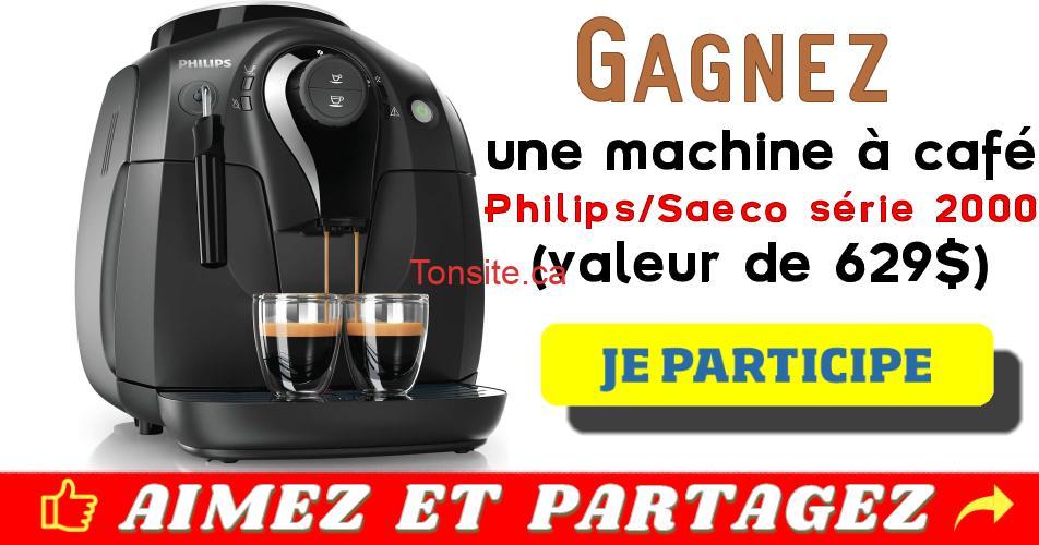 philips saeco concours - Gagnez une machine à café Philips/Saeco série 2000 (valeur de 629$)!