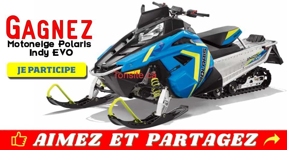 polaris concours2 - Participez et gagnez une motoneige Polaris Indy EVO 2019 (valeur de 7000$)