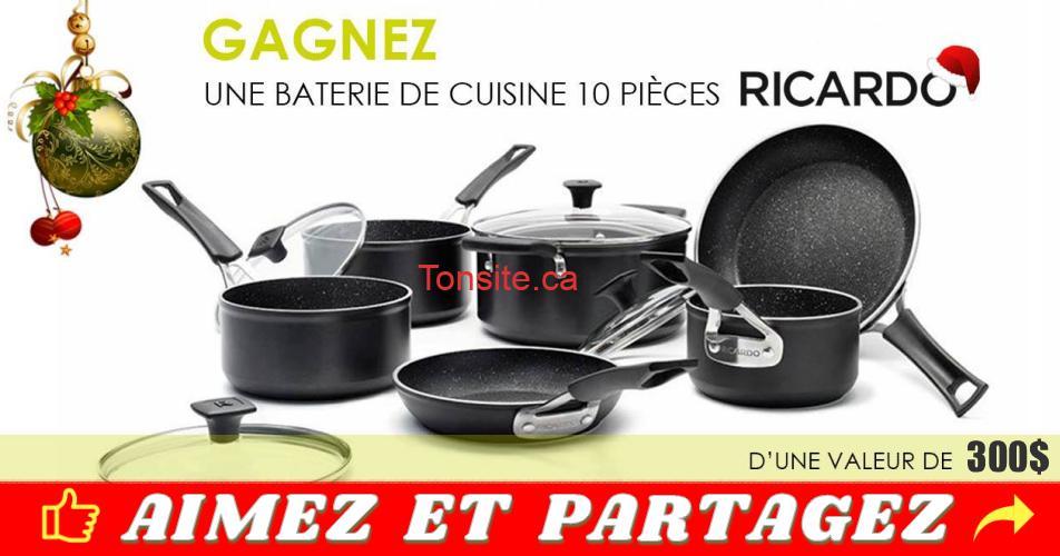 ricardo batterie concours - Gagnez une batterie de cuisine 10 pièces Ricardo
