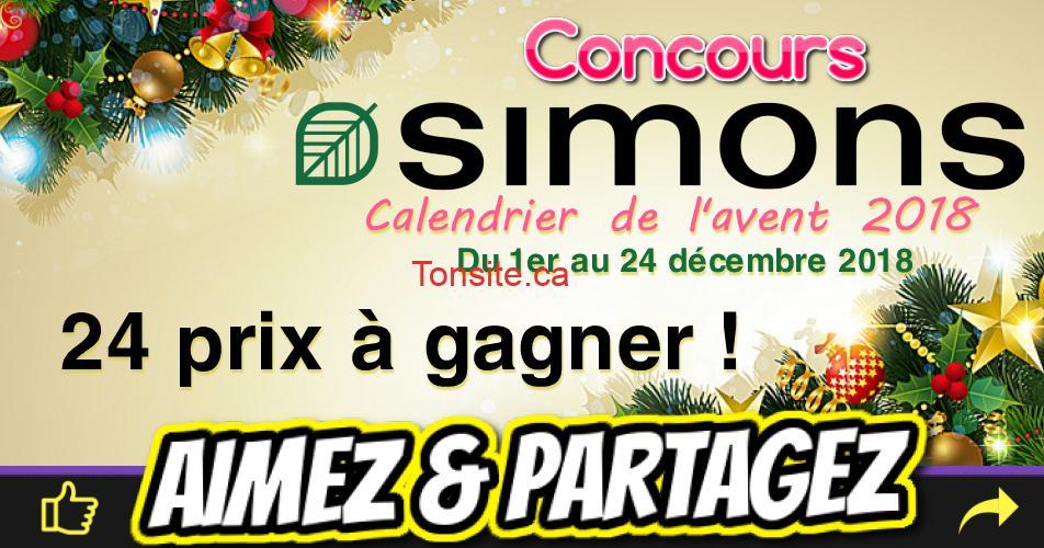 simons concours - Concours Simons: Des fabuleux prix à gagner chaque jour!