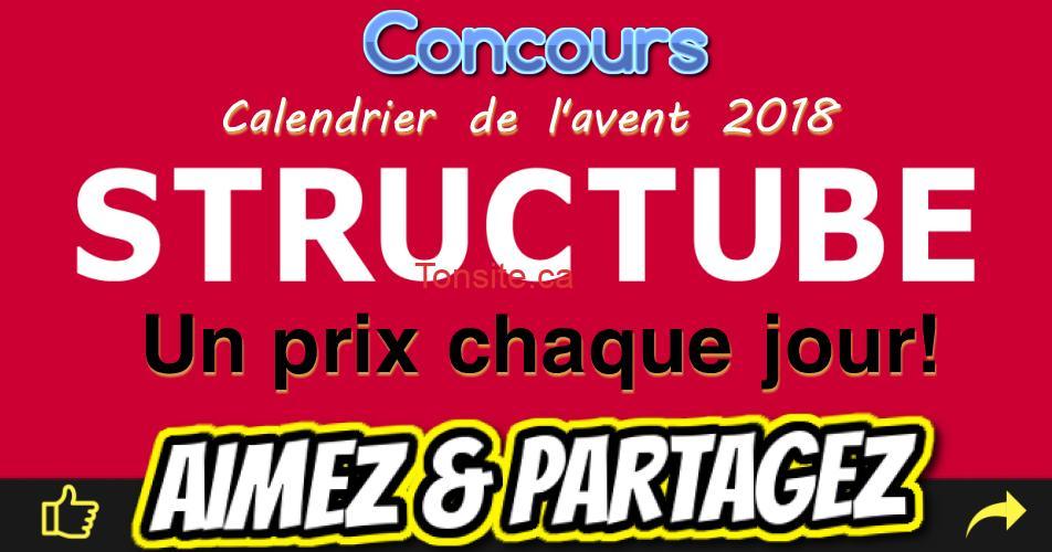 structube concours - Concours Structube: Un prix à gagner chaque jour!