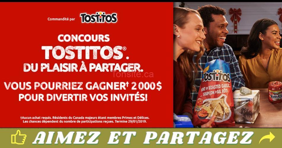 tostitos concours2 - Concours Tostitos: Gagnez un chèque de 2000$ pour le temps des fêtes