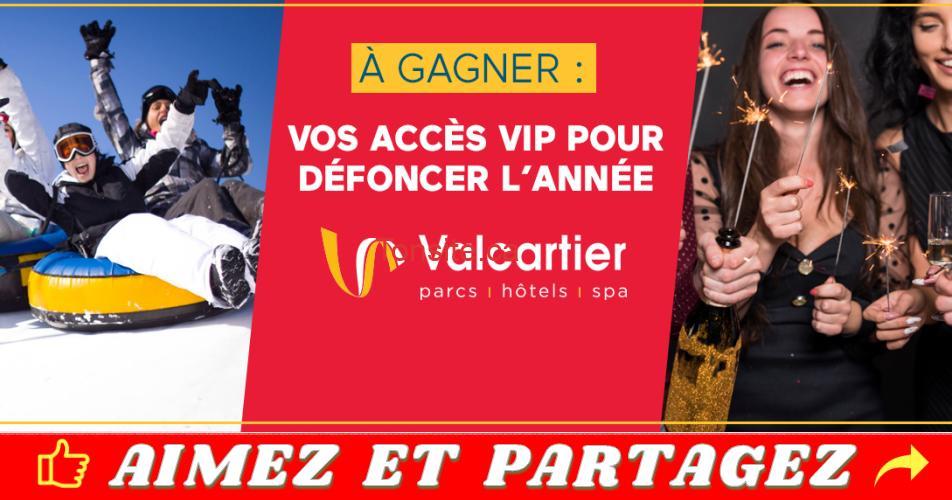 valcartier concours jour an - Gagnez un forfait VIP pour 4 personnes pour défoncer l'année au Village Vacances Valcartier