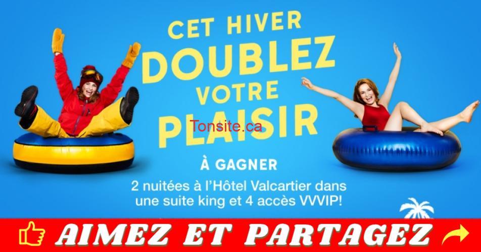 valcartier concours2 - Gagne 2 nuitées pour 4 personnes à l'Hôtel Valcartier et 4 accès VVVIP!