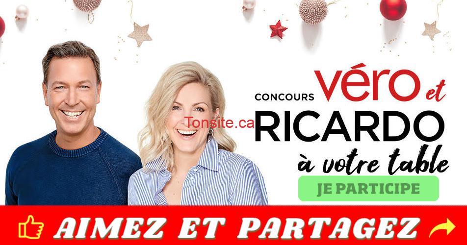 vero ricardo concours - Gagnez un repas pour 10 personnes en compagnie de Véro et Ricardo!
