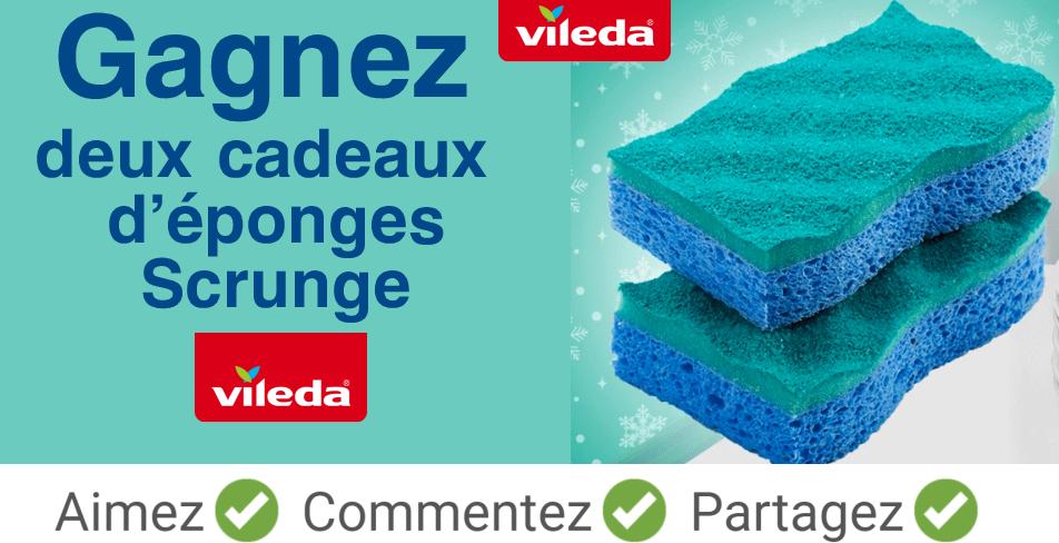 vileda scrunge concours - Participez et gagnez deux cadeaux d'éponges Scrunge de Vileda