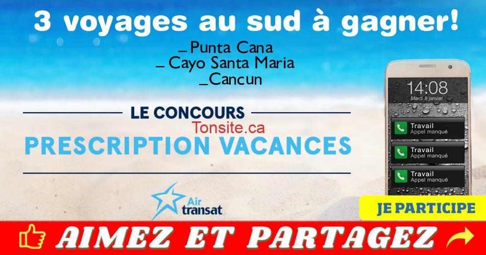air transat concours 1 19 - Gagnez 1 des 3 voyages au sud (Punta Cana, Cayo Santa Maria ou Cancun)