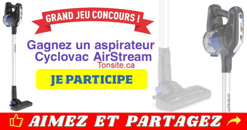 airstream concours - Gagnez un aspirateur Cyclovac AirStream (valeur de 250$)