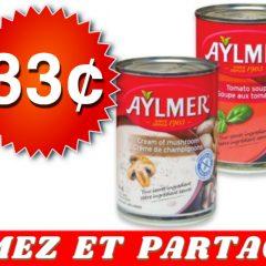 aylmer 33 off 240x240 - Soupe Aylmer à 33¢ seulement!