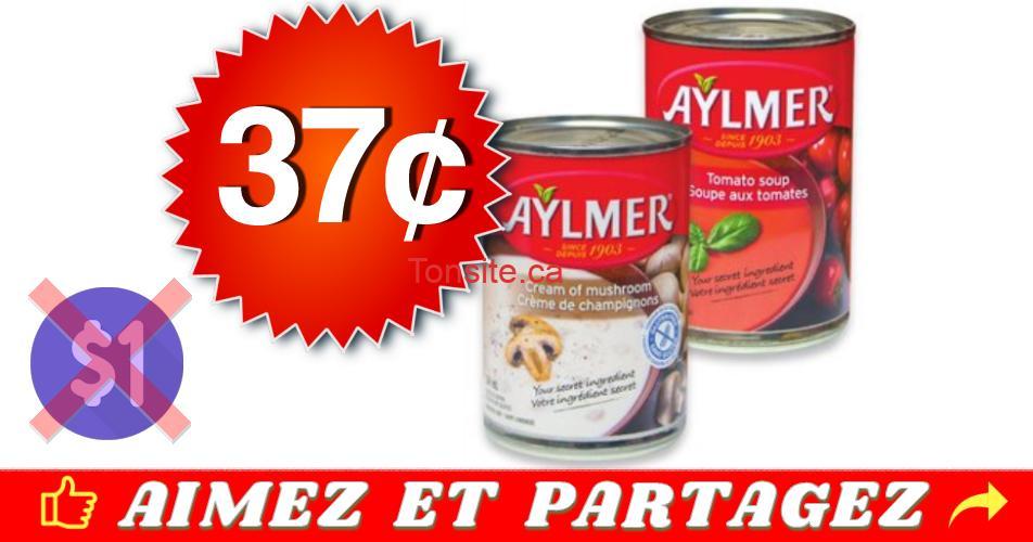 aylmer 37 - Soupe Aylmer à 37¢ seulement!